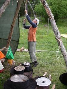 Bra att vara lång när man bygger kök