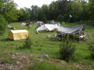 Lägerområdet från öster