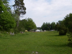 Lägerområdet från norr